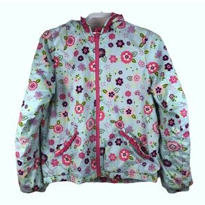 Hanna Andersson Floral Hooded Coat Jacket